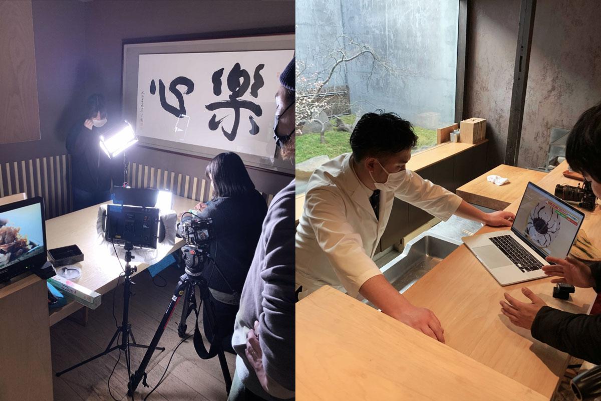 ご馳走侍の第一の侍を飾る片山心太郎さんの日本料理『楽心』にて撮影・収録がありました。